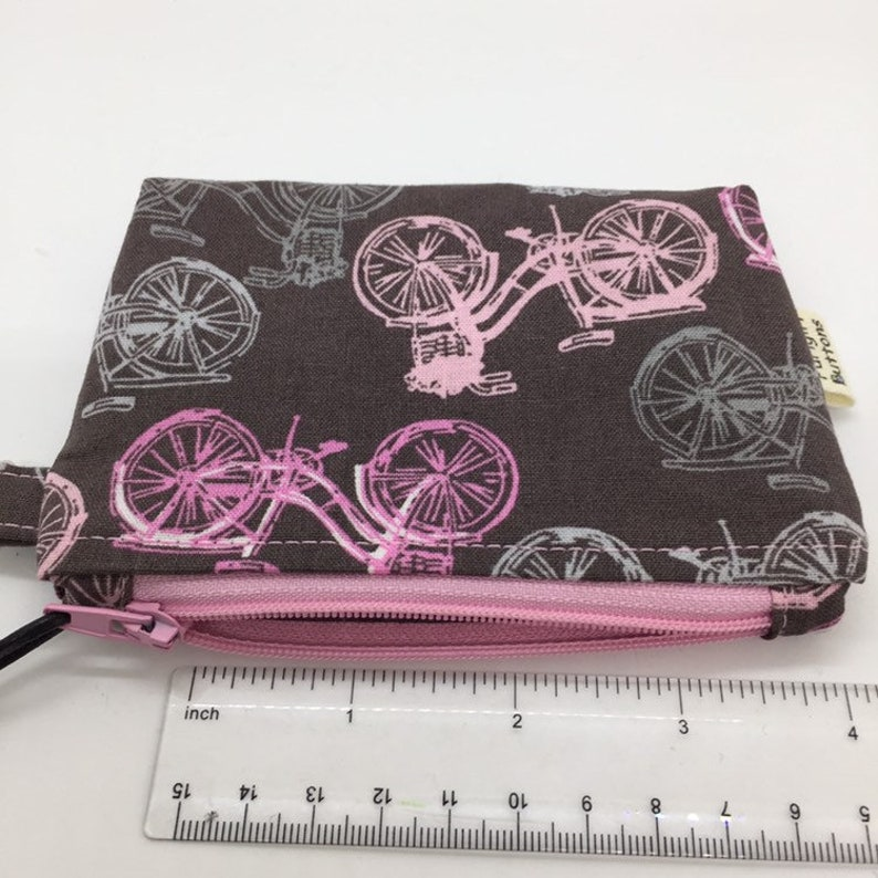 Small Stand-up Zipper Coin Pouch Clip Pouch Notions Pouch Tech Bag
