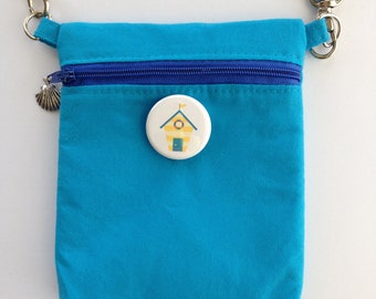 Small Crossbody Pocket Bag for ChattySnaps® Buttons, Crossbody Purse, Sling Bag, Cell Phone Pouch