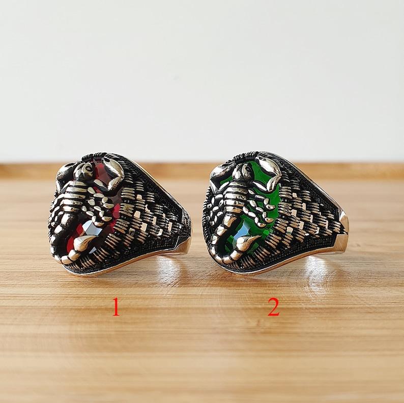 Scorpion Ring Scorpio Gemstone Ruby Ring Jade Ring 925 | Etsy |Scorpio Gemstone Rings