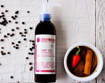 Body Oil, Anti-cellulite, Cellulite Treatment, Organic Skin Care, Fight Cellulite, Body Care, Organic Oil by Herbana cosmetics