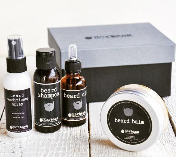Vegan Beard Grooming Kit Beard Care Grooming Kit Men S Etsy