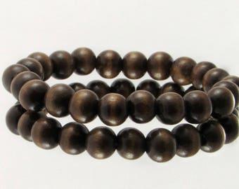 8162a3dffbcc9 Wooden bead bracelet | Etsy