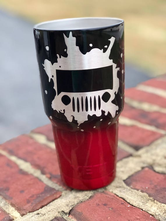 stainless steel cup yeti ozark powder coated cups powder etsy