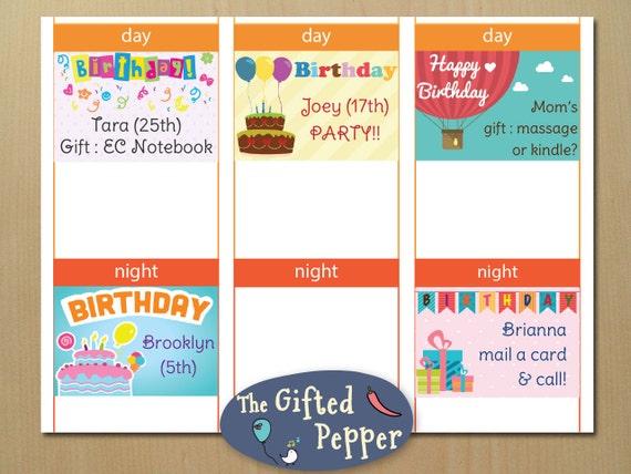 birthday mini sticky note stickers printable gift ideas etsy