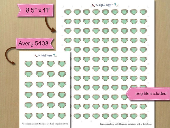 Cloth Diaper Stickers Printable For Erin Condren Planner Stickers Printable Calendar Stickers