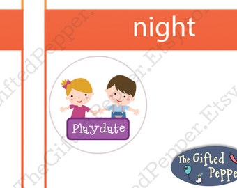 Playdate stickers [Printable]. Play dates, play time, children party reminder. For Erin Condren Planner. Stickers printable calendar sticker