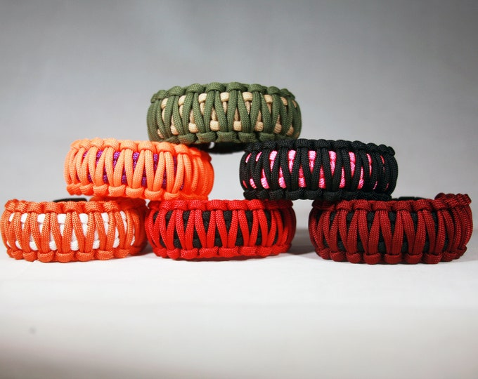 King Cobra Paracord Bracelets, Various Colors Available