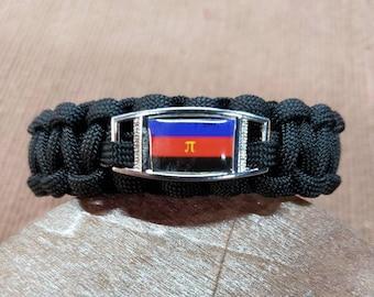 Polyamory Pride Flag Paracord Charm Bracelet, Polyamory, Poly, Pride, Flag Bracelet