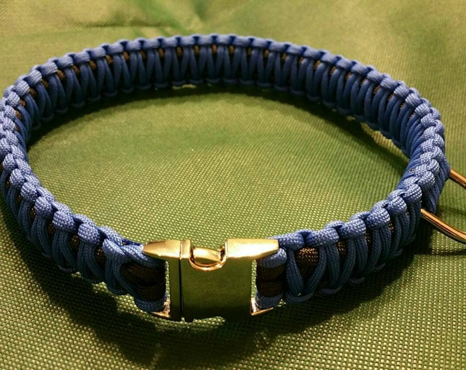 Paracord Dog Collars, King Cobra Collars, Various Colors Available