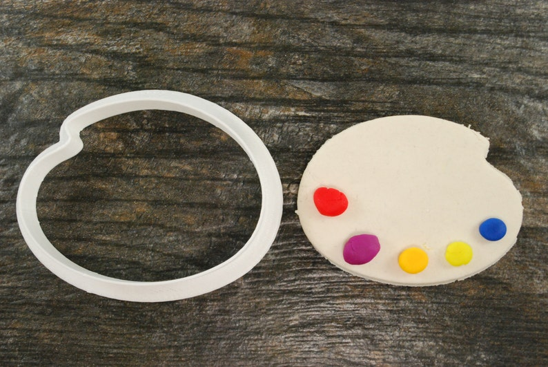 Paint Palette Cookie Cutter Mini and Standard Sizes 3D Printed