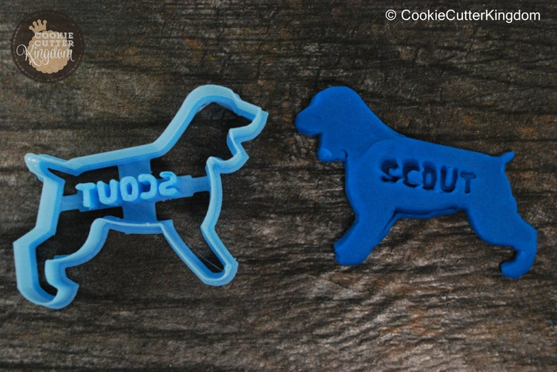 Custom Cocker Spaniel Cookie Cutter Personalized for your Pet!