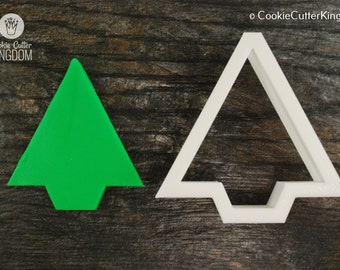 Triangle Christmas Tree Cookie Cutter, Mini and Standard Sizes, 3D Printed