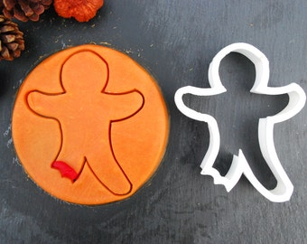 Gingerbread Man Cookie Cutter, 3D Printed, Mini Cookie Cutter and Standard Cookie Cutter Sizes