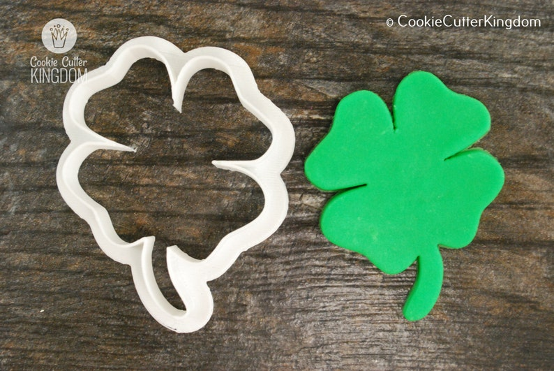 3D Printed Four Leaf Clover Cookie Cutter Mini and Standard Sizes