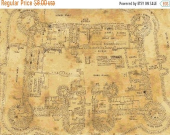 image about Marauders Map Printable Pdf known as Map pdf routine Etsy