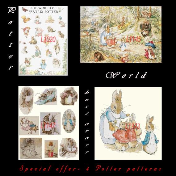 Beatrix Potter Jemima Puddle Duck Fox Talk Counted Cross Stitch Pattern