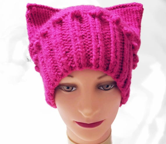 PussyHat Pink PussyHat Rose Hat Pink Hat Cat Ear Hat  f9a14f109cb