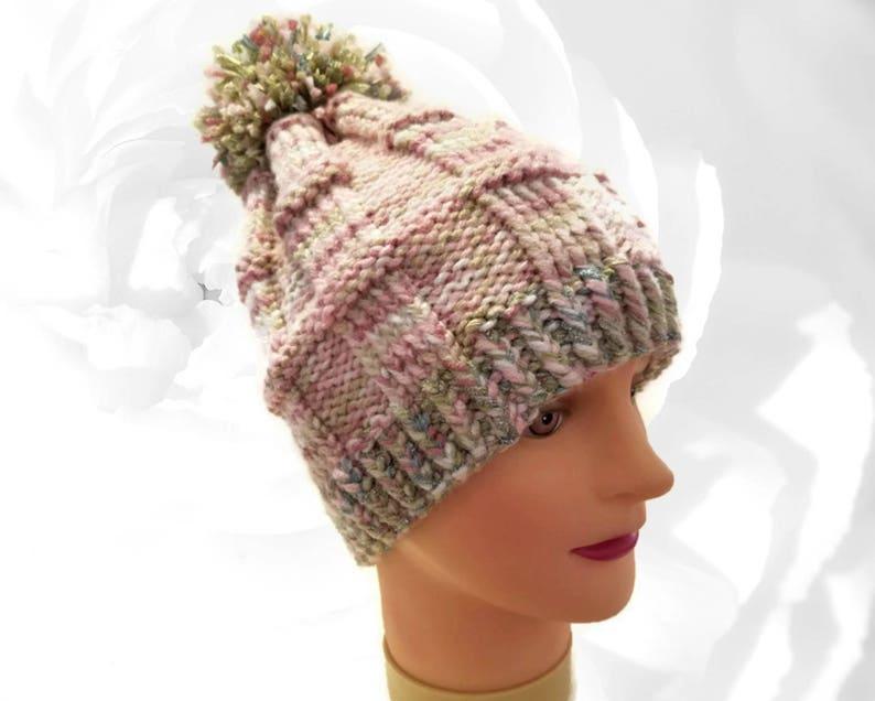 5a73f4b3c90 Pink Pom Pom Hat Pink Beanie Green Pom Pom Hat Green