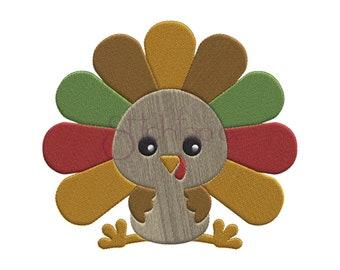 Turkey Embroidery Design 6 Sizes 10 Formats Dst Exp Hus Jef Pes Sew Shv Vip Vp3 Xxx Thanksgiving Machine Designs Instant Download