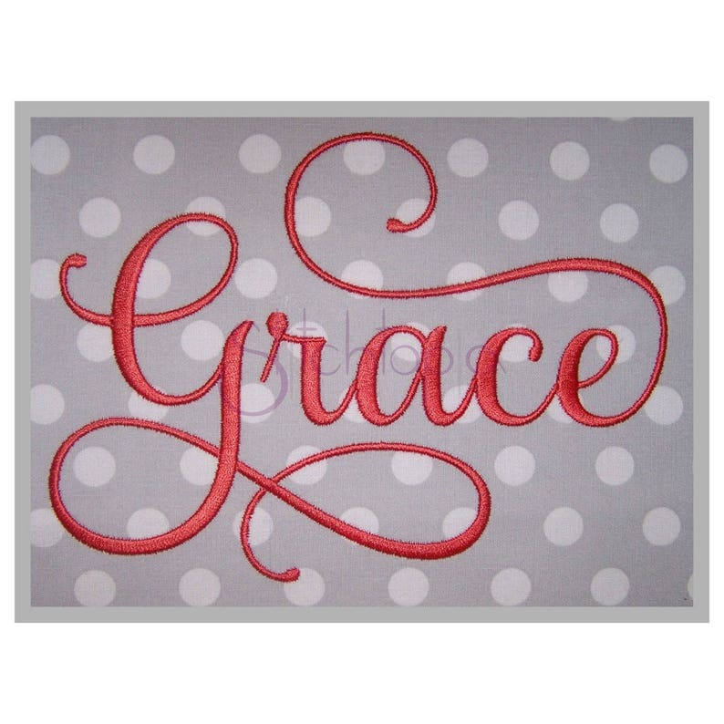 Grace Embroidery Font 2  1 1.5 2 2.5 image 0