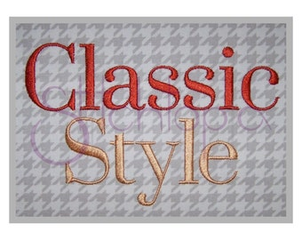 """Classic Style Embroidery Monogram Set  .5″ 1"""" 1.5"""" 2″ 2.5""""- Machine Embroidery Monogram Font Numbers Punctuation Alphabet Instant Download"""