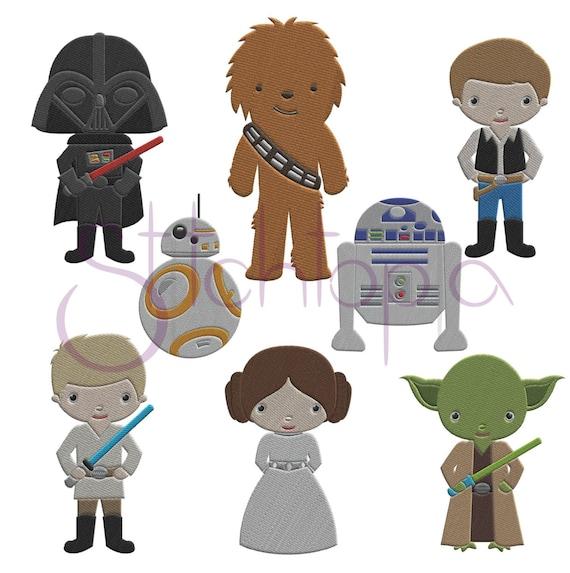 Space Guys Embroidery Design Set Star Wars Digital Machine Etsy