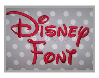 """Disney Embroidery Font Set .5"""" 1"""" 1.5"""" 2"""" 2.5"""" 3″ - Machine Embroidery Font Disney Embroidery Alphabet BX Fonts 11 Formats Instant Download"""