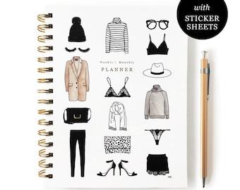 Undated Planner/ Weekly Planner/ Planner 20-21/ Undated Monthly Planner/ 2021 Planner/ Student Planner/Planner Sticker/Fashion Planner