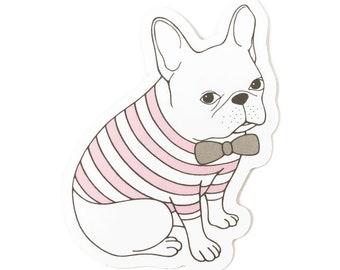 French Bulldog Sticker/ Waterproof Sticker/ Water Bottle Sticker/ Cute Dog Sticker/ Laptop Sticker/ Vinyl Sticker/ Frenchie Lover Gift