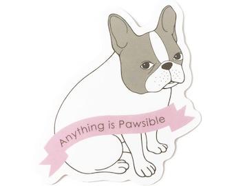 French Bulldog Water Bottle Sticker/ Waterproof Sticker/ Funny Dog Sticker/Stickers for Hydroflask/ Laptop Sticker/ Vinyl Sticker Cute