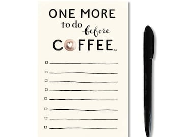 coffee notepad funny to do list to do list notepad teacher gift memo pad coffee lovers gift desk stationery funny notepad