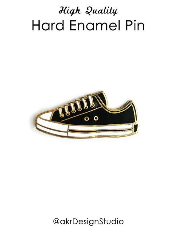 Shoe Enamel Pin  Enamel Pin Hard Enamel Pin Fashion Lapel Pin Sneaker Enamel Pin Lapel Pin Fashion Enamel Pin  Black Shoes Pin