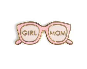 Girl Mom Enamel Pin/ Baby Shower Gift Girl/ Girl Mom Gift/ Girl Mama Pin/ Gift for Mom to Be/ Baby Shower Small Gift/ Newborn Girl Gift
