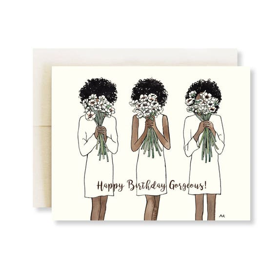 African American Card For Black Woman Birthday