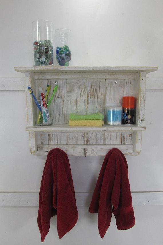 Badezimmer Lagerung Handtuch Regal Badezimmer Dekor rustikale Badezimmer  Wand Regale rustikale Bauernhaus WC Regal Handtuch Haken Holz Organisation