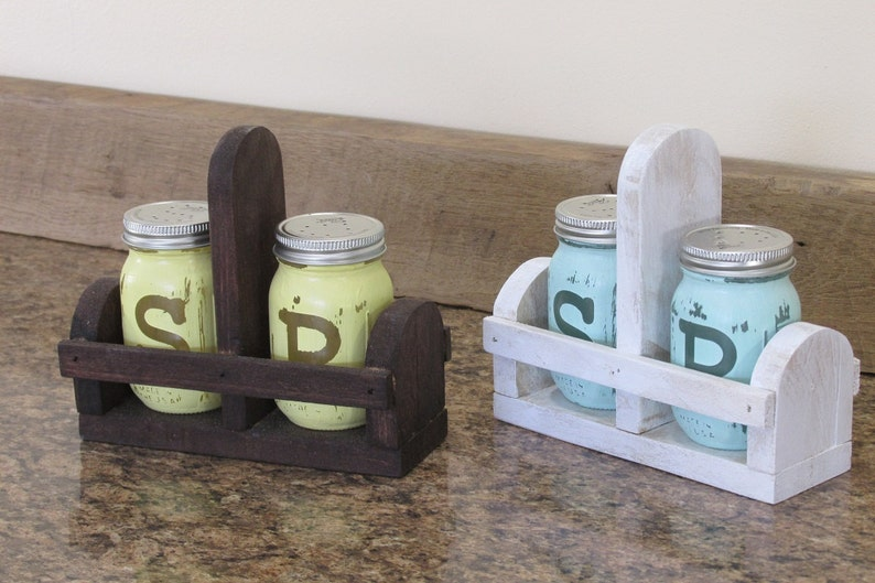 Mason Jar Salt and Pepper Salt and Pepper Shakers Mason Jar image 0
