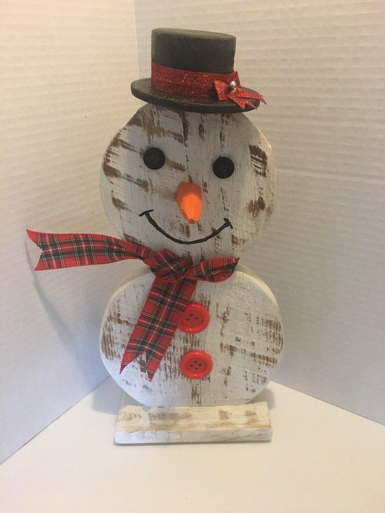 Snowman Wooden Snowman Snowman Décor Pallet Wood Wood image 0