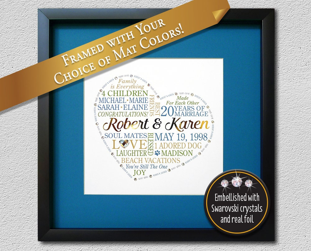20th Wedding Anniversary Gift For Wife: 20th Anniversary Gift For Husband Wife Couples