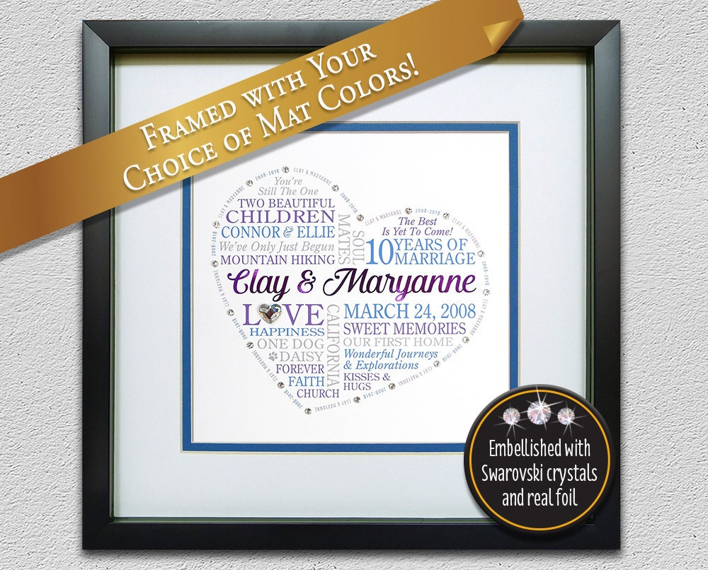 10th Anniversary Gift For Husband Wife Couples