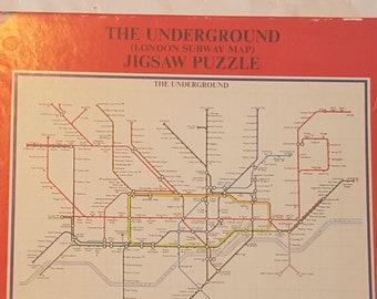 Nyc Subway Map Puzzle.Vintage Subway Map Etsy