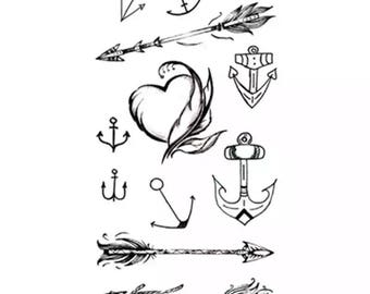 tattoo    temporary tattoo arrow