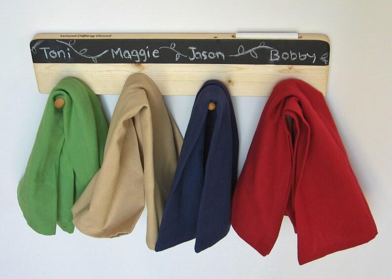 Wall Napkin Racksturdy wood rack for cloth napkins keys image 0