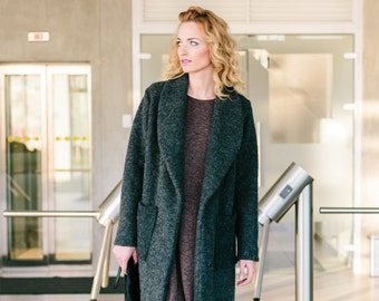 Overcoat with big pockets by Sarta designs