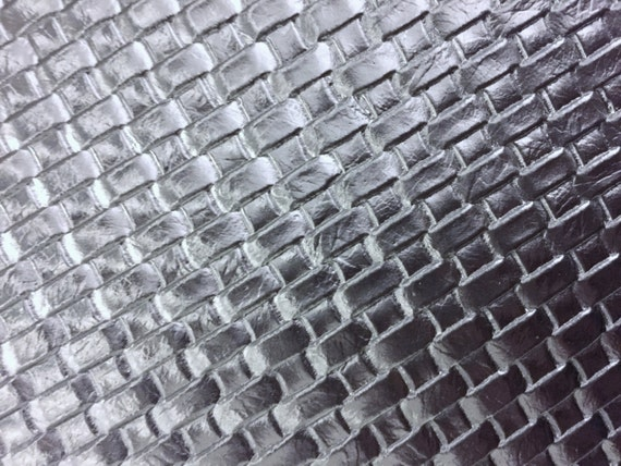 Silver Basket Weave Woven Upholstery Vinyl Fabric Sold By Etsy