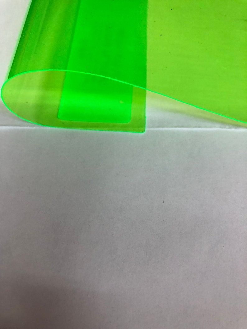 Lime Green Marine PVC Tinted Plastic Vinyl Fabric- Sold By The Yard - 54