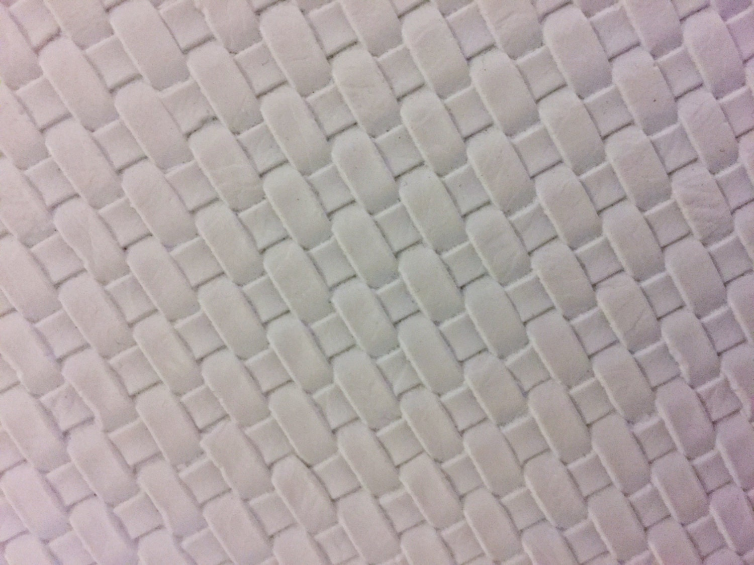 White Basket Weave Woven Upholstery Vinyl Fabric Sold By