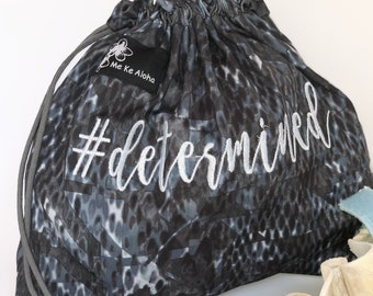 Determined Hashtagbag, #determined in 2 options, Grip bag, drawstring bag