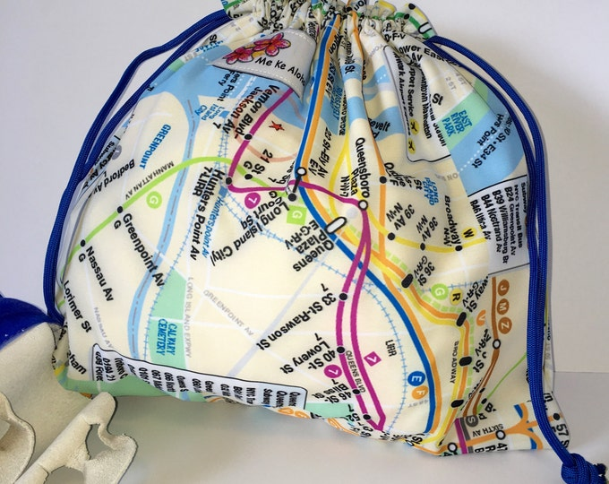 New York City Metro Map, Gymnastic Grip drawstring bags, drawstring bag, grip bag, gym bag, gymnastic bag, swimsuit bag