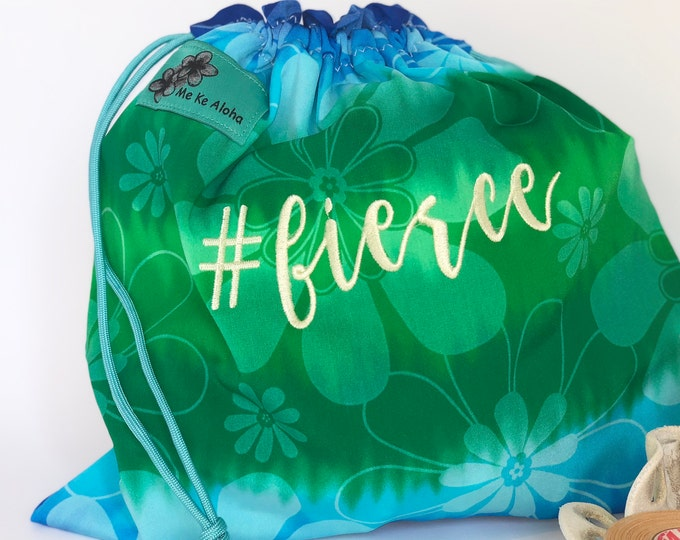 Fierce Hashtagbag, #fierce in 4 more color choices, Grip Bag, Drawstring Bag