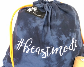 Beastmode Hashtagbag, #beastmode in 3 color choices, Grip Bag, Draw string Bag